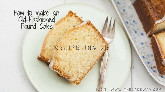 How to make an Old-Fashioned Pound Cake | I love looking through my Grandmother's recipes. She LOVED to bake and had recipes for almost any type of cake, cookie, or pie that you could imagine. I recently had a conversation with a friend looking for an old-fashioned pound cake recipe and thought, I'm sure my grandmother has one. And sure enough... She does. | http://thecakeway.com/2017/12/13/make-old-fashioned-pound-cake/