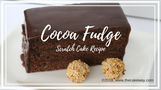 Cocoa Fudge Scratch Cake | ...This is another one of my grandmothers 1974 recipes...This is the recipe that she made for years. Her favorite... This Chocolate Fudge Scratch Cake recipe is a must-have for your recipe portfolio. Are you a chocolate lover? Even more, are you a scratch-recipe lover. | http://www.thecakeway.com/cocoa-fudge-scratch-cake