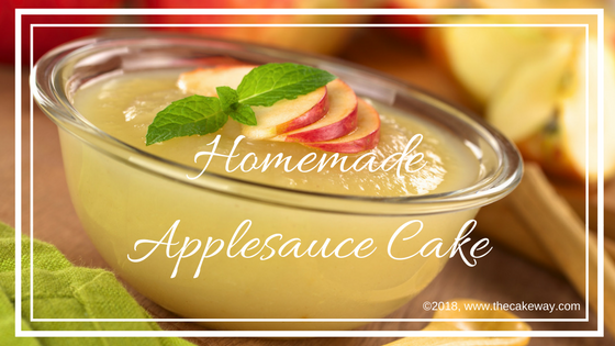 Homemade Applesauce Cake   Homemade Applesauce Cake What goes great with homemade applesauce? Homemade applesauce cake. It a great way to make a fresh, healthy-ish dessert for your family. My 3-year-old LOVES apples and is such a fan of this cake, it is one of his favorites and mine!   https://thecakeway.com/homemade-applesauce-cake/