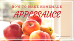 How To Make Homemade Applesauce | Recipe for Homemade Applesauce Here is a scratch recipe to make homemade applesauce. This recipe will make 1 1/2 cups of applesauce | https://thecakeway.com/how-to-make-homemade-applesauce/