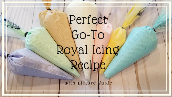 Perfect Go-To Royal Icing Recipe | Today I am sharing with you my Perfect Go-To Royal Icing Recipe. I've incorporated many of the ingredients that will make it stable to hold up to textured designs, smooth to fill a cookie evenly and cleanly, and strong enough to hold it's color without bleeding on your work. | https://www.thecakeway.com/perfect-go-to-royal-icing-recipe