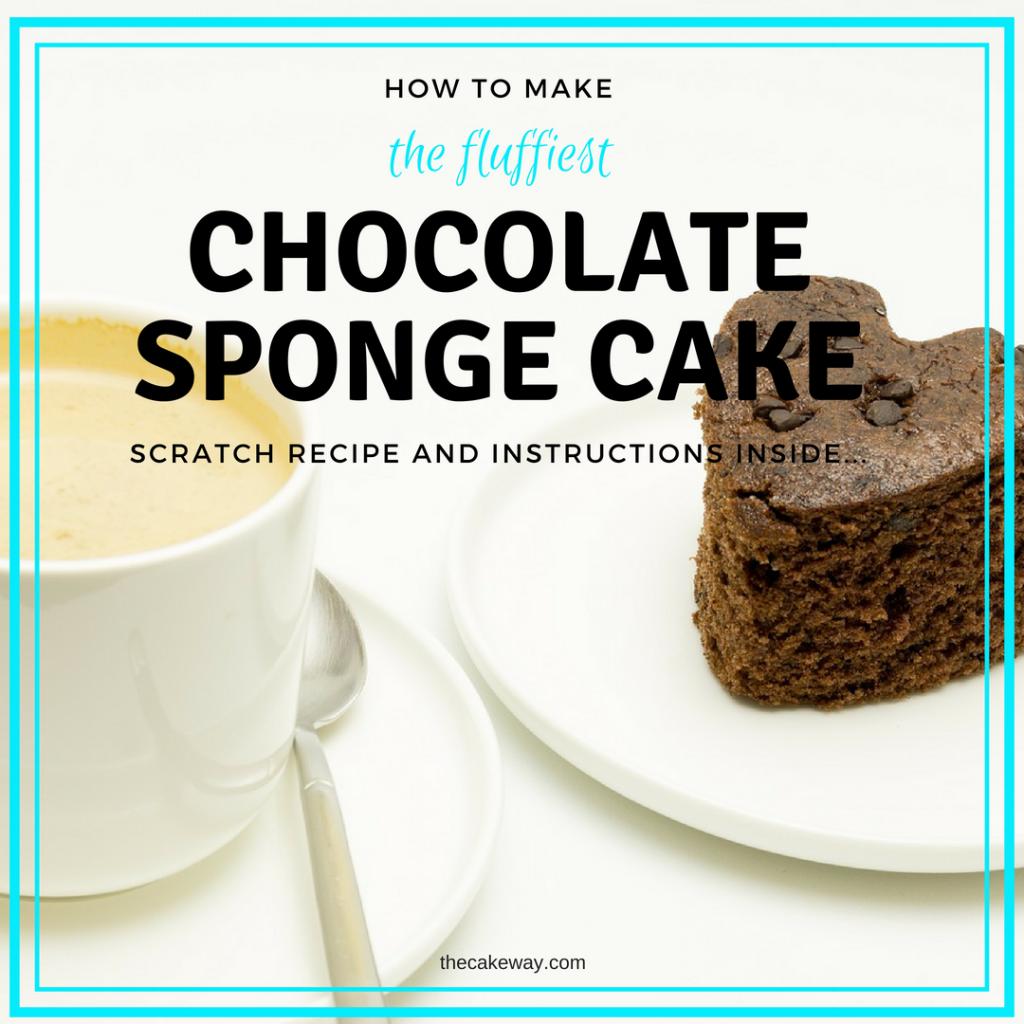 How To Make The Fluffiest Chocolate Sponge Cake | This cake is a particularly light, fluffy and quite tasty Chocolate Sponge Cake | http://thecakeway.com/how-to-make-the-fluffiest-chocolate-sponge-cake