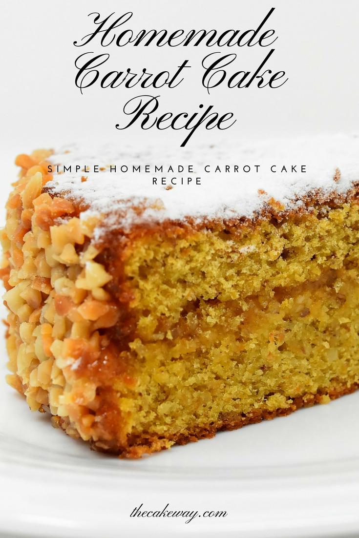 Homemade Carrot Cake-thecakeway.com