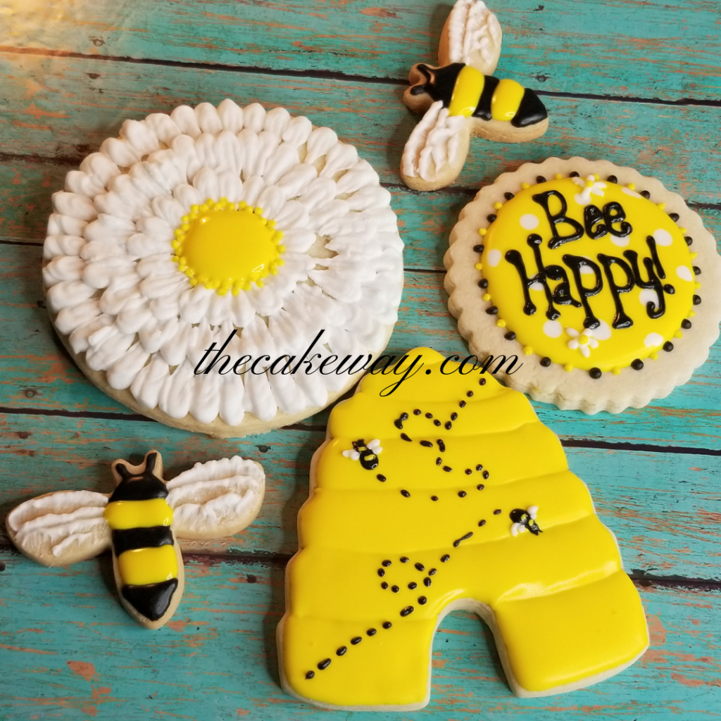 Bee Cookies by The Cake Way