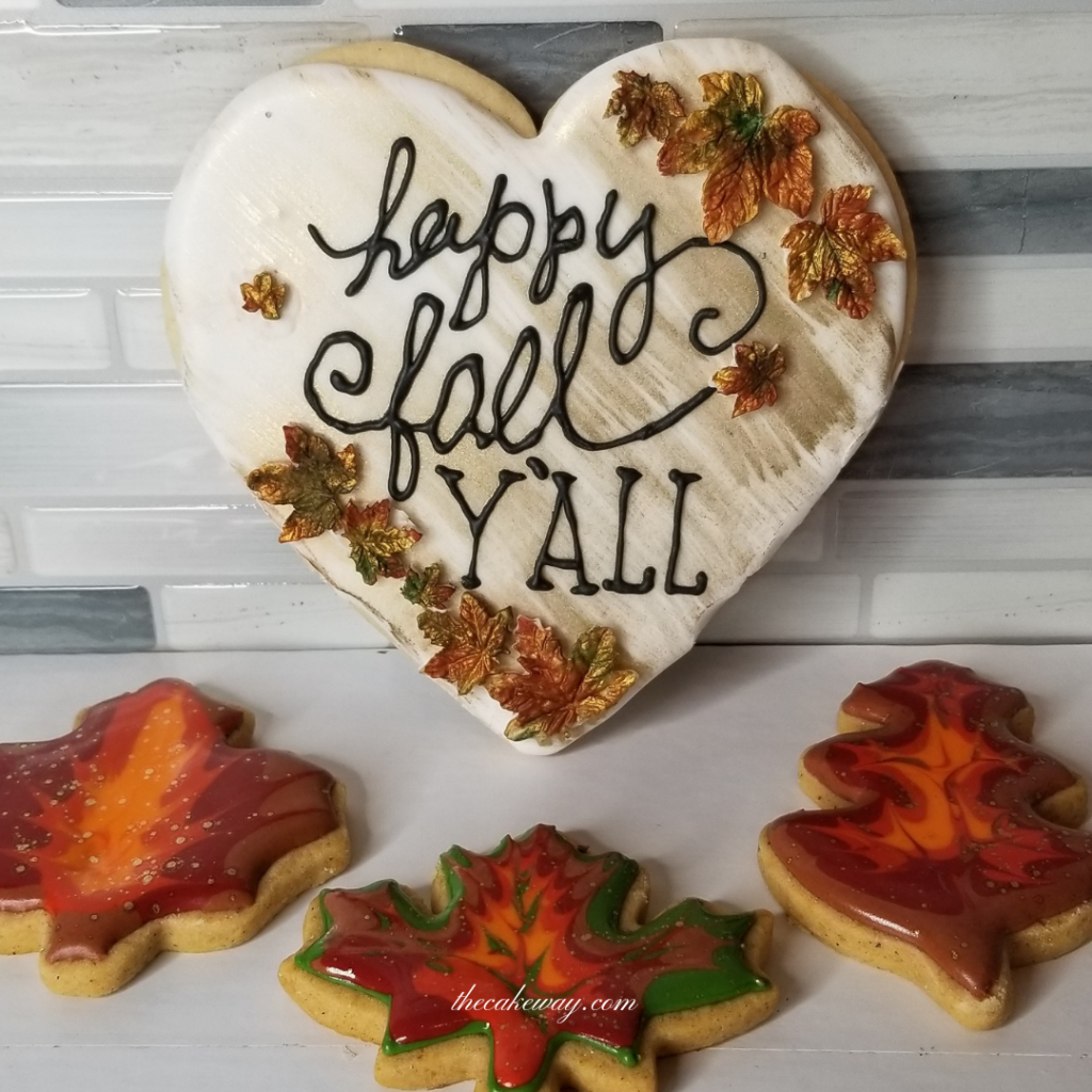 Fall Cookies by The CakeWay