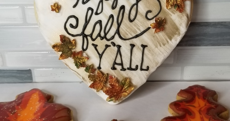 Fall Cookies by The Cake Way