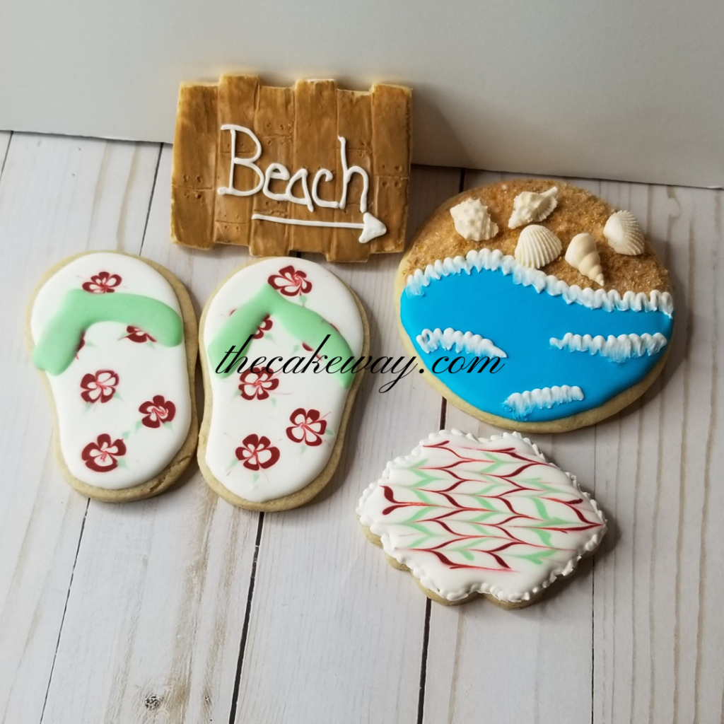 Summer themed cookies by The Cake Way