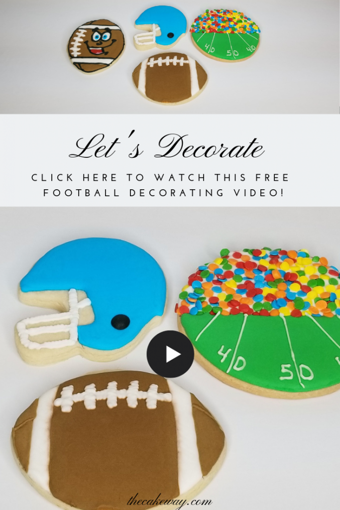 Football cookies by The Cake Way
