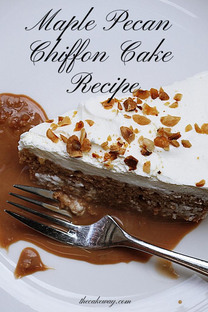 Maple Pecan Chiffon Cake Recipe | thecakeway.com