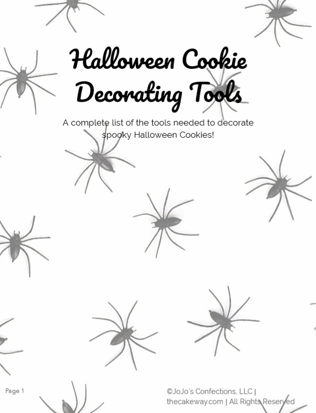 Download the Halloween Cookie Decorating Tools and Sketches EBook