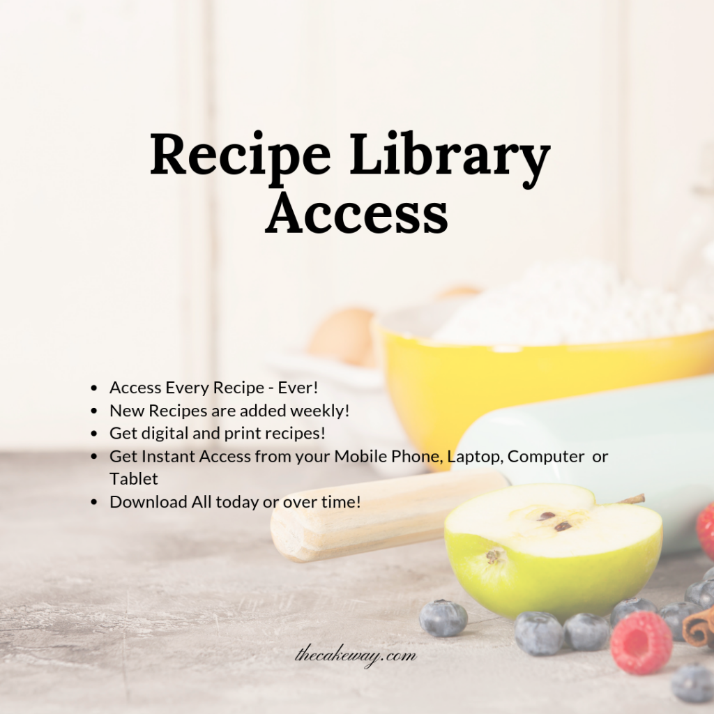 Recipe library access - Subscription Group | https://thecakeway.com/plans/recipe-library/
