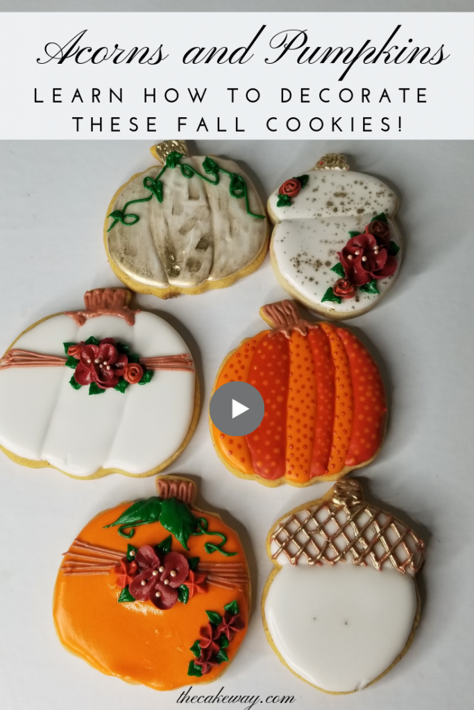 Decorating Pumpkin Cookies by The CakeWay
