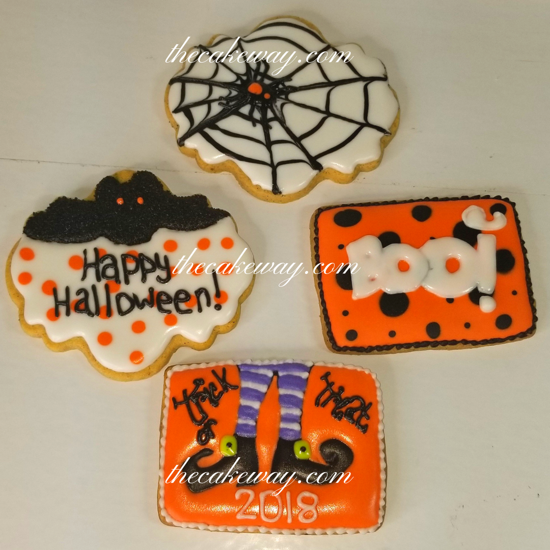 Halloween Plaque Cookies