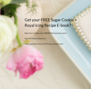 FREE Sugar Cookie and Royal Icing EBOOK | https://thecakeway.lpages.co/sugar-cookie-recipe-royal-icing-e-book