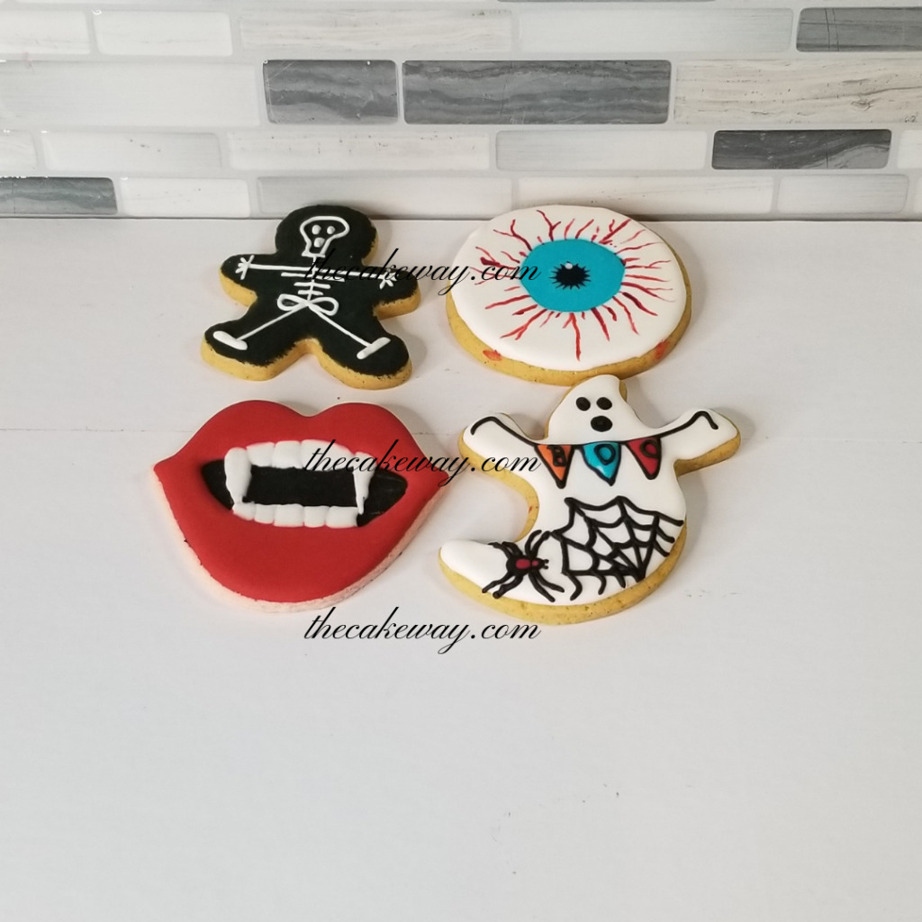 Spooky Cookies Decorated | thecakeway.com