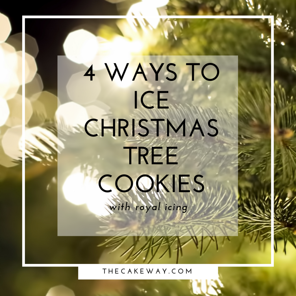 4 Simple Steps to Ice Christmas Tree Cookies | How to Video Included | https://wp.me/pafZO8-1rU