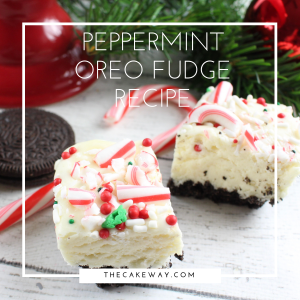 Peppermint Oreo Fudge
