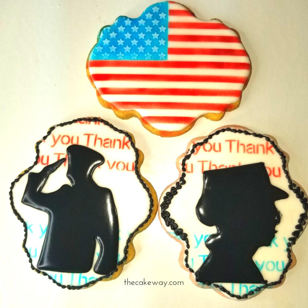 Veterans Day Sugar Cookie Decorating
