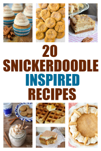 20 Snickerdoodle Inspired Dessert Recipes