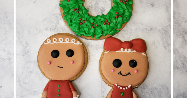How to Decorate Mr. and Mrs. Gingy Cookie Set | www.thecakeway.com/how-to-decorate-mr-and-mrs-gingerbread-cookie-set
