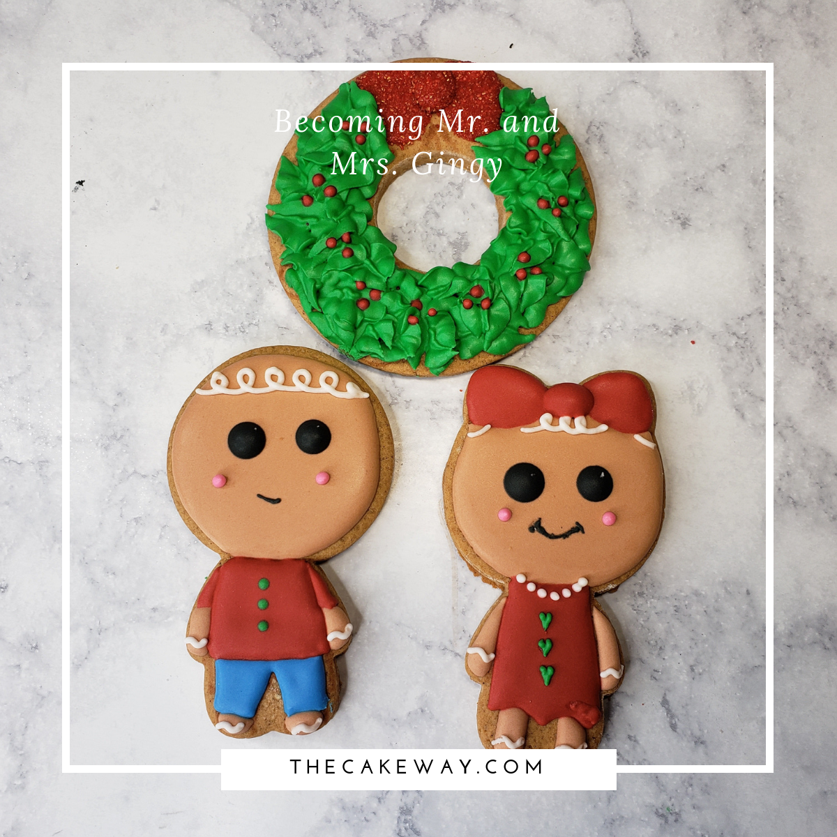 How To Decorate Mr. and Mrs. Gingerbread Cookie Set