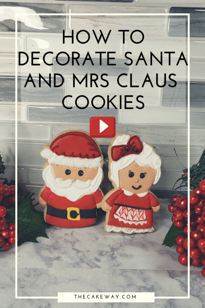 Kawaii Santa Cookie Decorating Video | https://thecakeway.com/kawaii-santa-cookie-decorating-video/