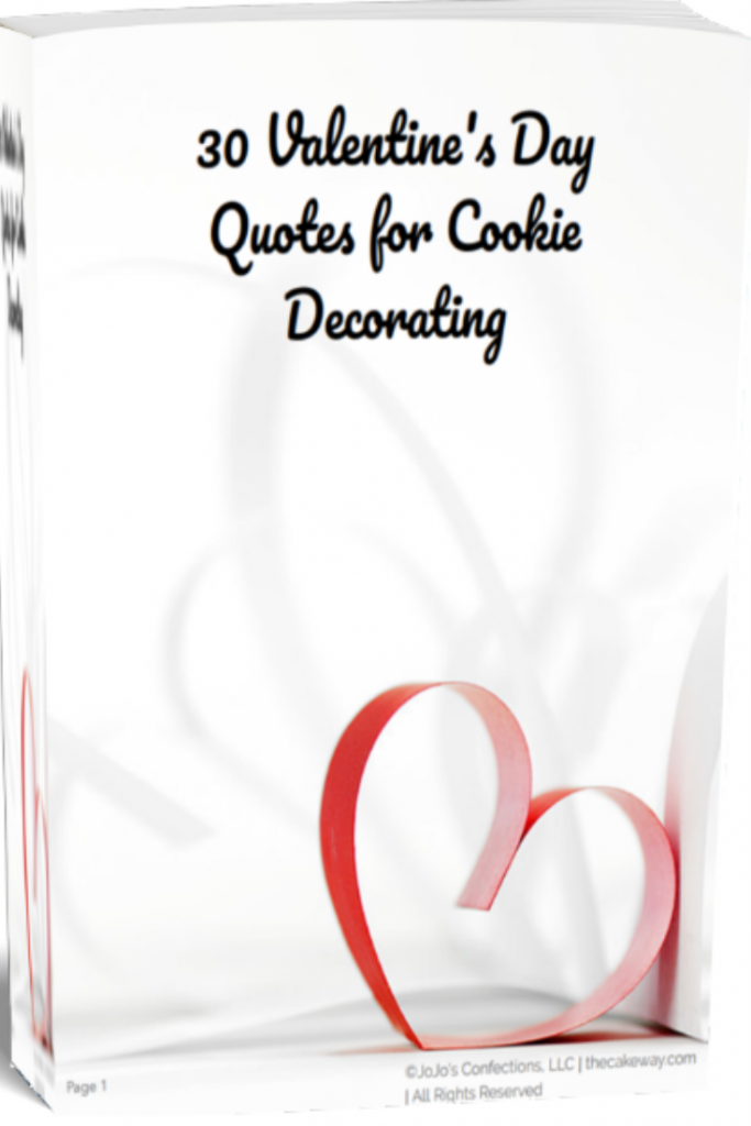 Valentine's Day Puns for Cookie Decorating | https://thecakeway.com/30-valentine's-day-puns/