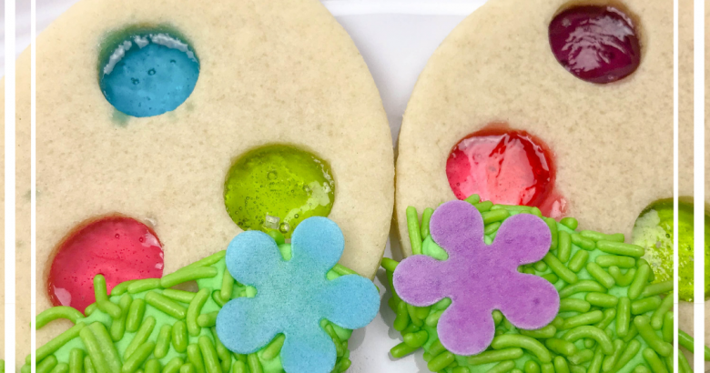 Stained Glass Easter Egg Cookies | https://thecakeway.com/stained-glass-easter-egg-cookies/