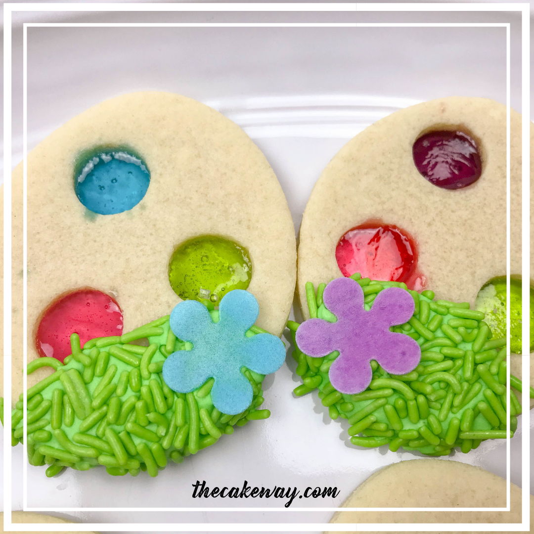 Stained Glass Easter Egg Cookies