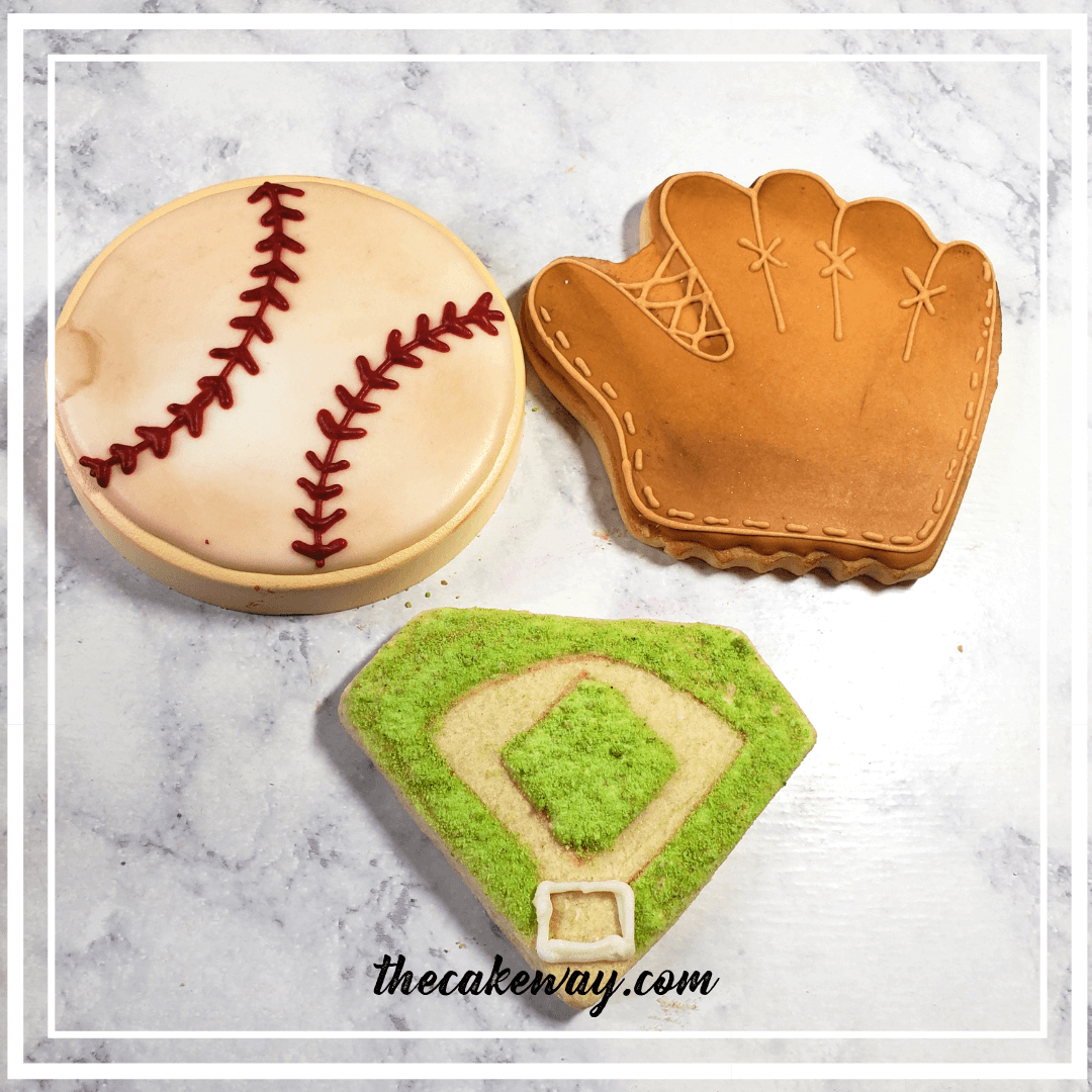 Baseball Themed Decorated Cookies