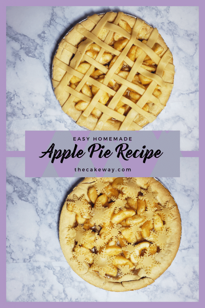 Easy Homemade Apple Pie | I used to think that was difficult to make a homemade apple pie but is so easy! Here is a delicious classic apple pie recipe with both filling and crust! | https://thecakeway.com/easy-homemade-apple-pie/