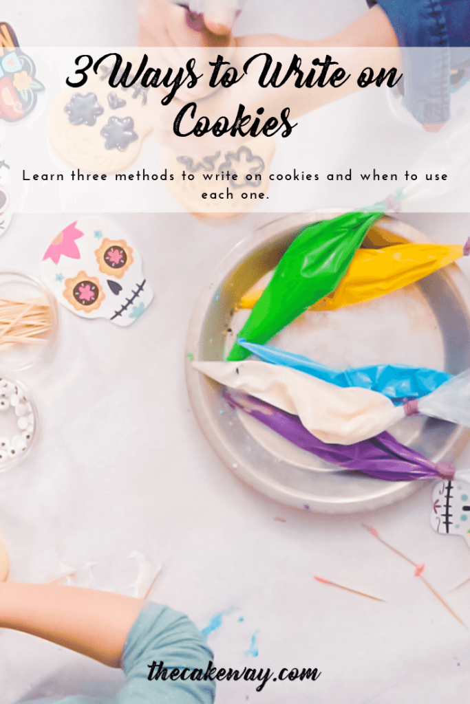 Learn three methods to use today to write on cookies and when to use each method! Learn All the Things about Cookie Decorating today!