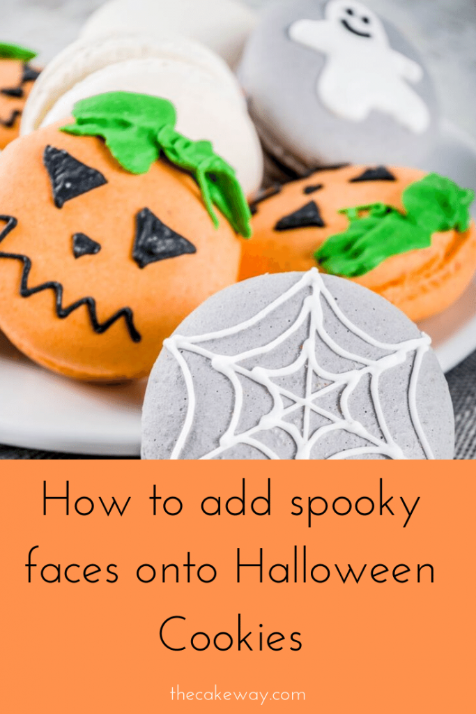 Halloween Spooky Eyes Pinterest | https://www.thecakeway.com/how-to-add-spooky-faces-to-halloween-cookies