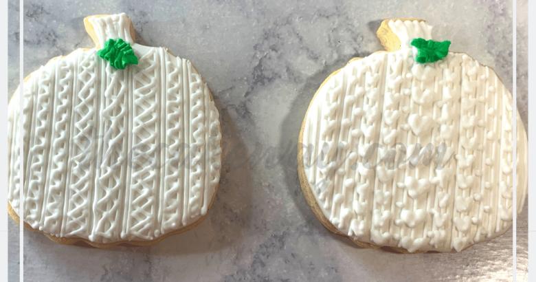 Sweater Pumpkn Cookies Decorated | https://thecakeway.com/sweater-pumpkin-cookies-decorated/ | Video Tutorial