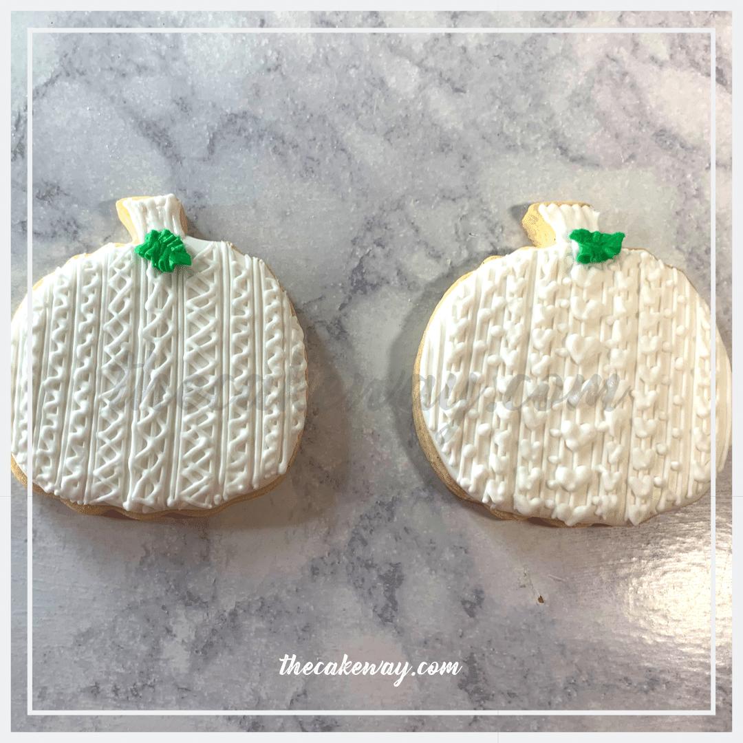 Sweater Pumpkn Cookies Decorated   https://thecakeway.com/sweater-pumpkin-cookies-decorated/   Video Tutorial