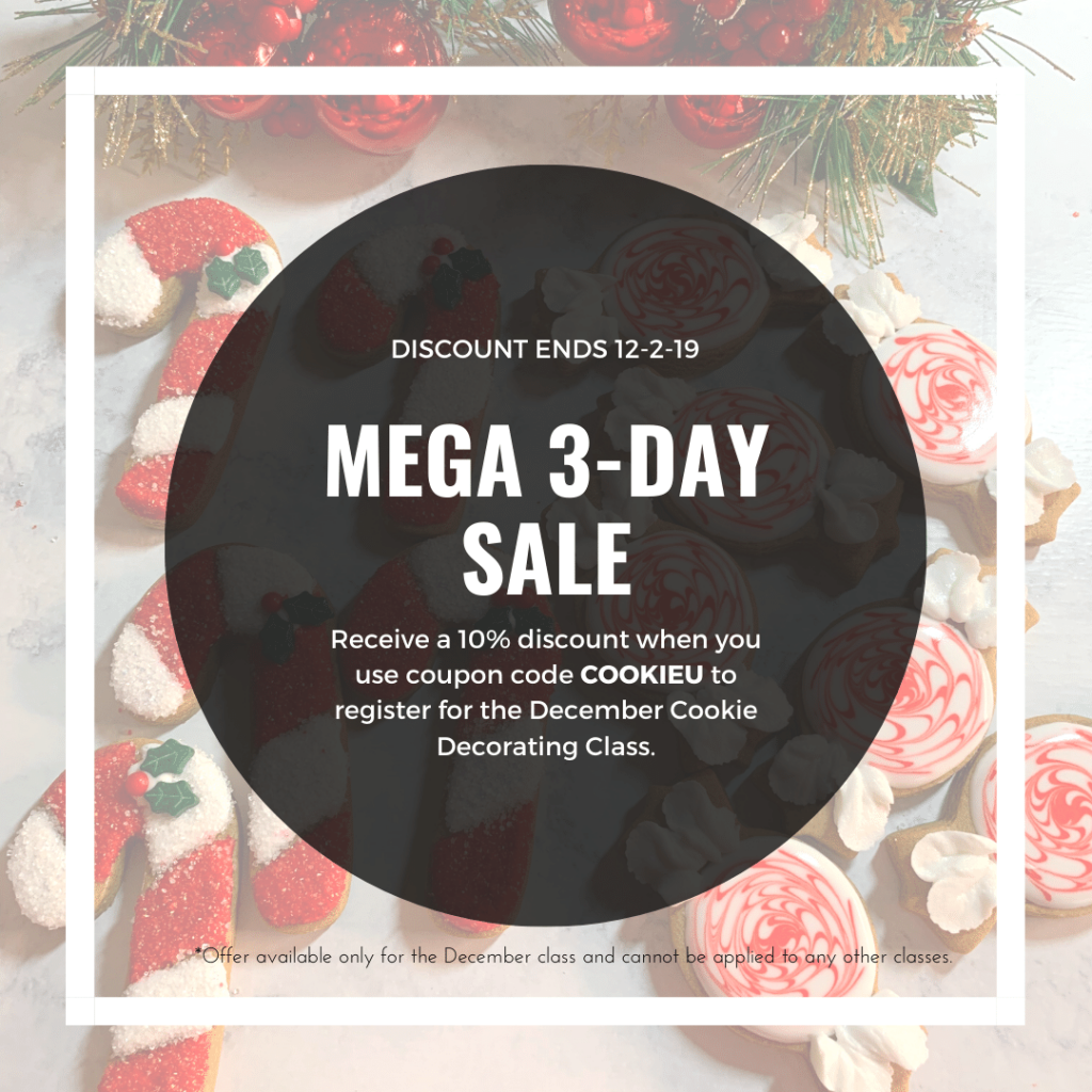 2019 Black Friday Special | Access an epic and Elegant Christmas this year with complete access to a Cookie Decorating Party from wherever you are in the world! | https://thecakeway.com/2019-black-friday-special/