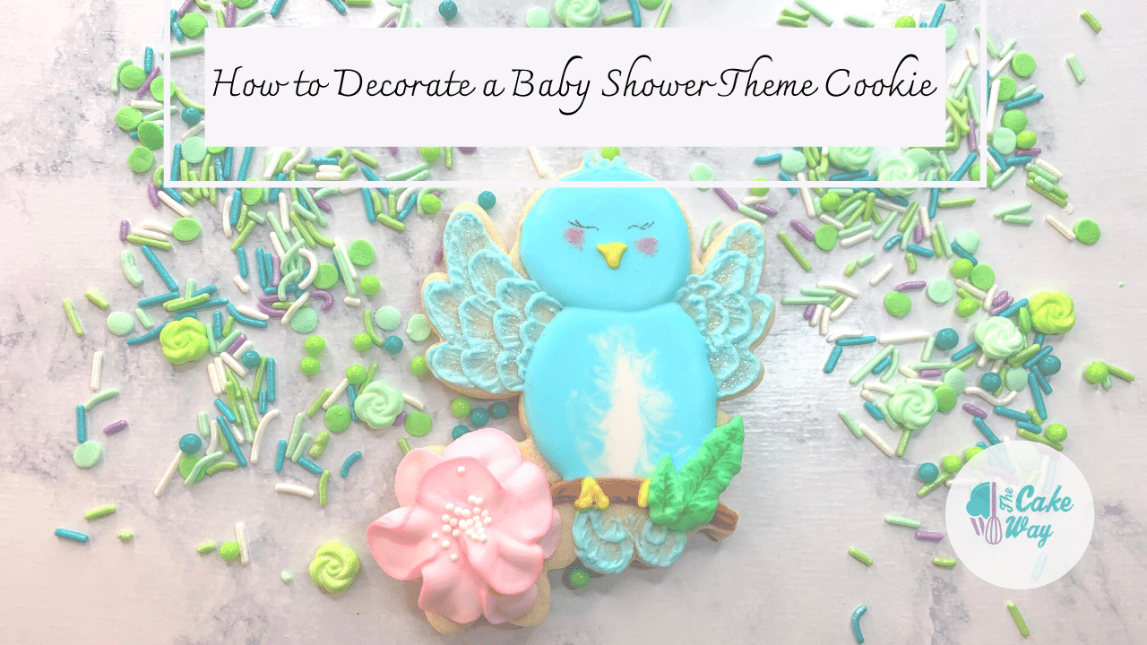 How to Add Dimension to Decorated Sugar Cookies | This blog post and the accompanying video will show you how to add dimension to decorated sugar cookies | https://www.thecakeway.com/how-to-add-dimension-to-decorated-sugar-cookies